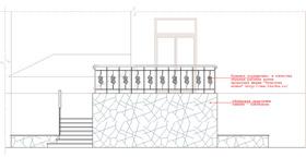 Фасад бокового крыльца дома