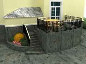 Эскиз бокового крыльца дома