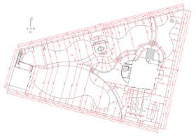 Разбивочный чертеж показывает размеры всех проектируемых элементов, а также их четкую привязку к точкам на местности. Ландшафтный дизайн проект