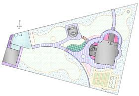 Ландшафтный дизайн. В Балансе площадей показаны и просчитаны основные объемы работ по благоустройству и озеленению участка. Эта схема ложится в основу Предварительной сметы на работы по благоустройству и озеленению