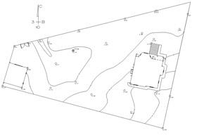 Топографический план участка является основой для всей дальнейшей работы над проектом